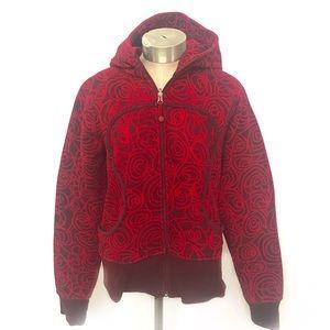 LULULEMON Red Scuba Full Zip Up Hoodie Sweatshirt